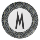 1920s Fans Pattern - Personalized Plate