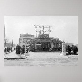 1920s Filling Station Print