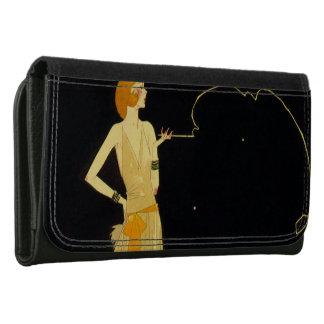 1920s flapper Large Faux Leather Wallet