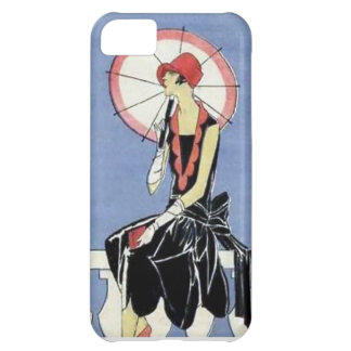 1920s Flapper with Umbrella iPhone 5C Covers