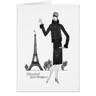 1920's French Style White Card