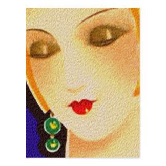 1920s gal postcard