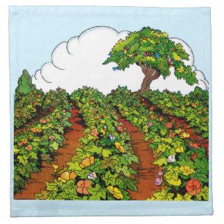 1920s garden print napkin