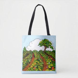 1920s garden print tote bag