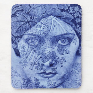 1920s Gloria Swanson in blue Mouse Pad