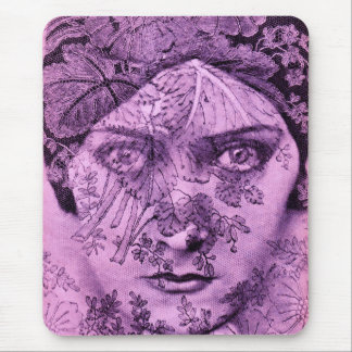 1920s Gloria Swanson in lavender Mouse Pad