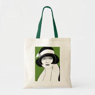 1920s Green Tote Bag