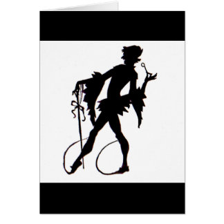 1920s magician silhouette card