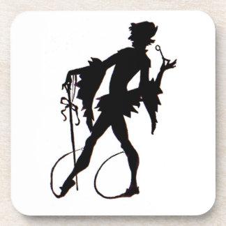 1920s magician silhouette coaster