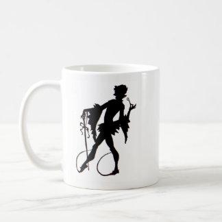 1920s magician silhouette coffee mug