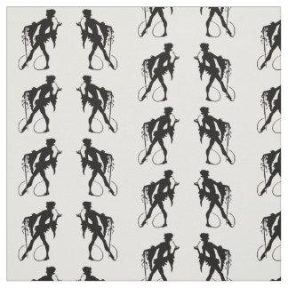 1920s magician silhouette fabric