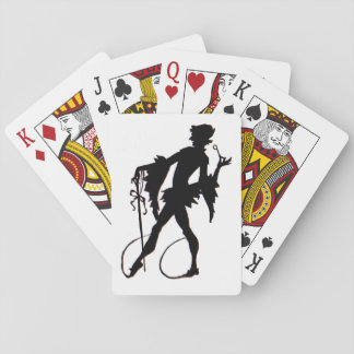 1920s magician silhouette playing cards