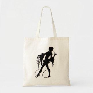1920s magician silhouette tote bag