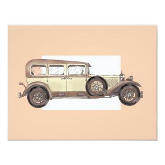 1920s Mercedes Limousine Card