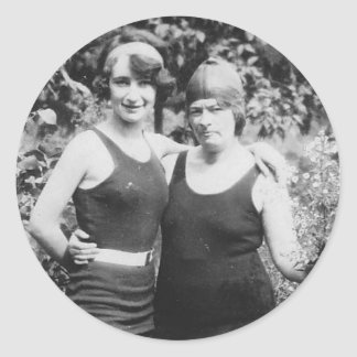 1920's Mother and Daughter in bathingsuits Sticker