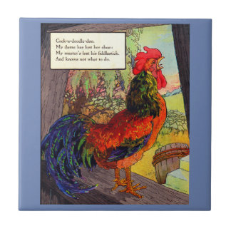1920s Mother Goose - rooster Tile
