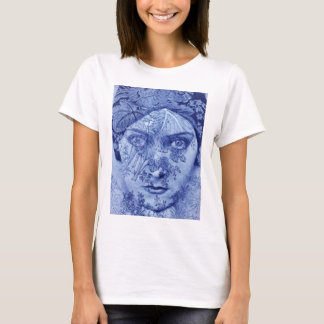 1920s movie star Gloria Swanson in blue T-Shirt
