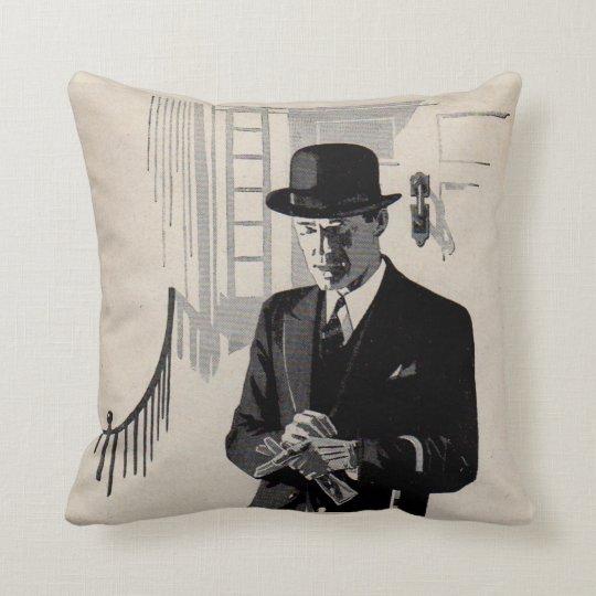 1920s Mr. Natty the sharp dressed man Throw Pillow