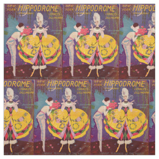 1920s New York Hippodrome program cover print Fabric