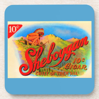 1920s Sheboygan cigar label Coaster