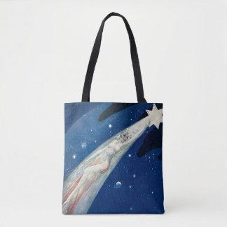 1920s shooting star tote bag
