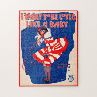 1920s song sheet I Want to Be Loved Like a Baby Jigsaw Puzzle