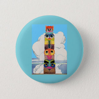 1920s totem pole 2 inch round button