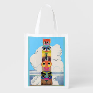 1920s totem pole grocery bags