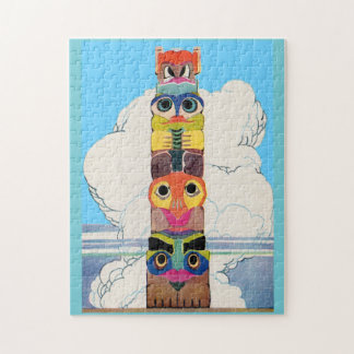 1920s totem pole jigsaw puzzle