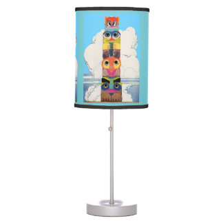 1920s totem pole table lamp