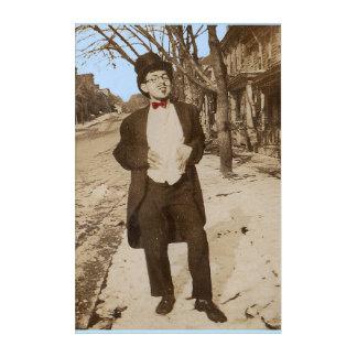 1920s vernacular photo classy young man acrylic wall art