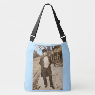 1920s vernacular photo classy young man crossbody bag