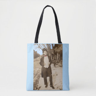 1920s vernacular photo classy young man tote bag