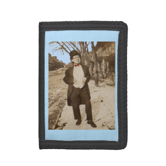 1920s vernacular photo classy young man trifold wallet