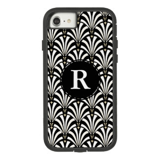 1920s Vintage Art Deco Black & White Fans Case-Mate Tough Extreme iPhone 8/7 Case