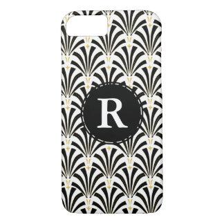 1920s Vintage Art Deco Black & White Fans iPhone 8/7 Case