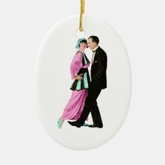 1920's Vintage Dancing Couple Ceramic Ornament