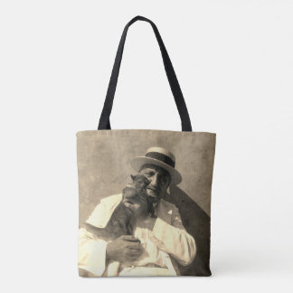 1920s Vintage Photo Man & Pet Kinkajou Tote Bag
