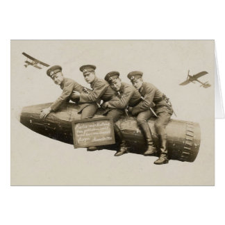 1920s Vintage Soldiers Funny Card