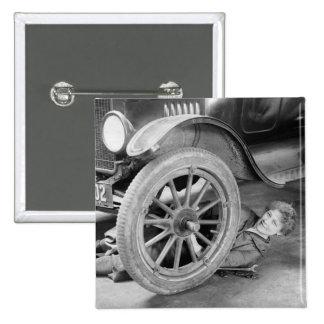 1920s Woman Car Mechanic Buttons