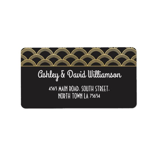 1920sGatsby Return Address Label Art Deco Wedding