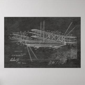 1921 Airship Airplane Patent Art Drawing Print