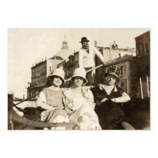 1921 Girlfriends in Venice Card