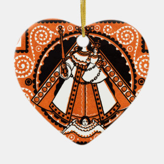 1921 Grace of Kevelaer Notgeld Banknote Ceramic Heart Ornament