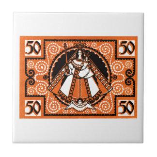 1921 Grace of Kevelaer Notgeld Banknote Ceramic Tile
