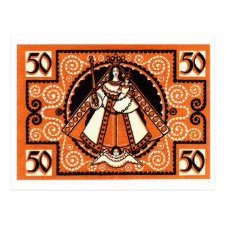 1921 Grace of Kevelaer Notgeld Banknote Postcard