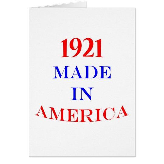 1921 Made in America Card