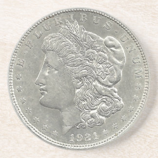 1921 Morgan Silver Dollar Coaster