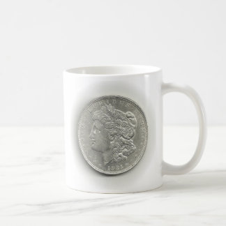 1921 Morgan Silver Dollar Coffee Cup