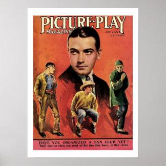 1921 Richard Barthelmess Magazine Cover Print